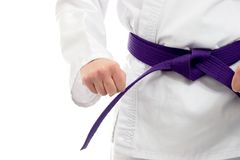 Martial Artist. At a ready Stance Stock Photo