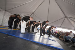 Martial Artists Bowing Royalty Free Stock Images