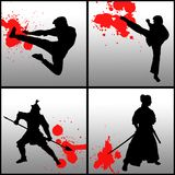 Martial arts stock illustration