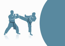 Martial arts background Stock Image