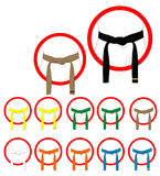 Martial arts belts Stock Image