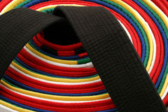 Martial Arts Belts - Round royalty free stock images