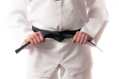 Martial Arts Black Belt Stock Images