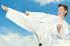 Martial arts boy Royalty Free Stock Photography