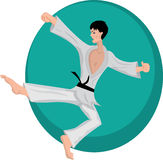 Martial arts boy vector illustration