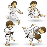 Martial Arts - Cartoon Stock Photo