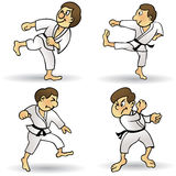 Martial Arts - Cartoon. Vector illustration of cartoon martial arts. This file has been layered and grouped for easy editing. This file includes a large JPG, EPS Royalty Free Stock Photo