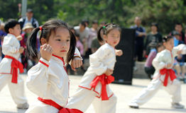 Martial arts child royalty free stock photography