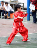 Martial arts child in competition. The martial arts child in the competition Royalty Free Stock Photography