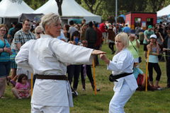 Martial Arts Demonstration Stock Photo