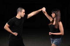 Martial arts female instructor Stock Images