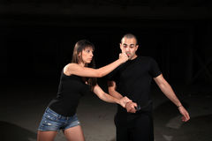 Martial arts female instructor royalty free stock photos