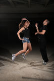 Martial arts female instructor Royalty Free Stock Images