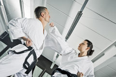 Martial arts fighters royalty free stock image