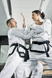 Martial arts fighters Stock Photos