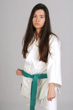 Martial arts girl Royalty Free Stock Image