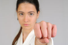 Martial arts girl Stock Photos