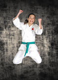 Martial arts girl Royalty Free Stock Photography