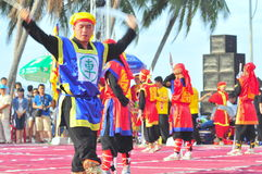 Martial arts of human chess in a festival on the beach of Nha Trang city Stock Image