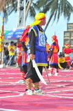 Martial arts of human chess in a festival on the beach of Nha Trang city Stock Photography