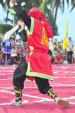 Martial arts of human chess in a festival on the beach of Nha Trang city Royalty Free Stock Image