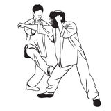 Martial arts illustration Royalty Free Stock Photo