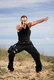 Martial arts instructor Royalty Free Stock Photo
