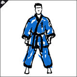Martial arts. Karate fighter. Vector. EPS. Royalty Free Stock Images
