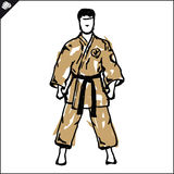 Martial arts. Karate fighters . Vector. EPS. Stock Image