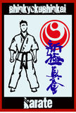 Martial arts. Karate fighters. Vector. EPS. Stock Image