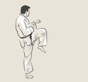 Martial arts - Kick vector illustration