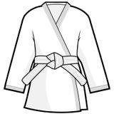 Martial arts kimono jacket. Vector illustration of martial arts uniform. Karate, Taekwondo, judo, jujitsu, kickboxing, or kung fu suit Royalty Free Stock Image