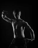 Martial Arts. Kung Fu kata. Shock technique. Stock Photo
