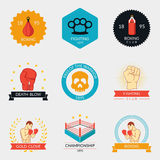 Martial arts labels and badges Stock Photo