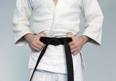 Martial arts Master with black belt Stock Image
