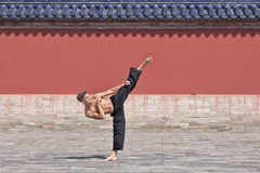 Martial arts master practicing at Temple of Heaven, Beijing, China Stock Images