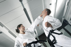 Martial arts masters Stock Images