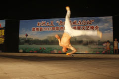 Martial arts performance on a stage, north china Stock Photography