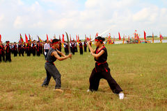 Martial arts practitioners per Stock Image