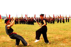 Martial arts practitioners per Royalty Free Stock Images