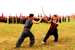 Martial arts practitioners per Royalty Free Stock Photo