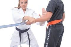 Martial arts self defense Stock Images