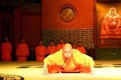 Martial arts show. Shaolin Monastery. Dengfeng county, Zhengzhou, Henan province. China Stock Photography