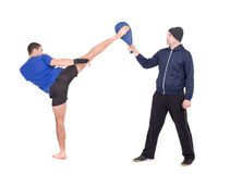 Martial Arts Sparring Royalty Free Stock Images
