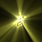 Martial arts character symbol light flare Royalty Free Stock Photo