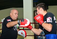 MARTIAL ARTS TRAINING SESSION Stock Images