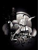 Martial arts vector. Martial arts  over a black background Stock Photography