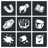 Martial arts Vector Icons Set Royalty Free Stock Images