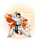 Martial arts vector illustration Stock Image