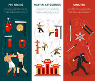 Martial Arts Vertical Banners Set Royalty Free Stock Photography